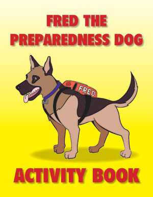 Fred the Preparedness Dog: Coloring Book